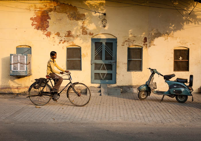 Boy on a bike in Haridwar (2008)